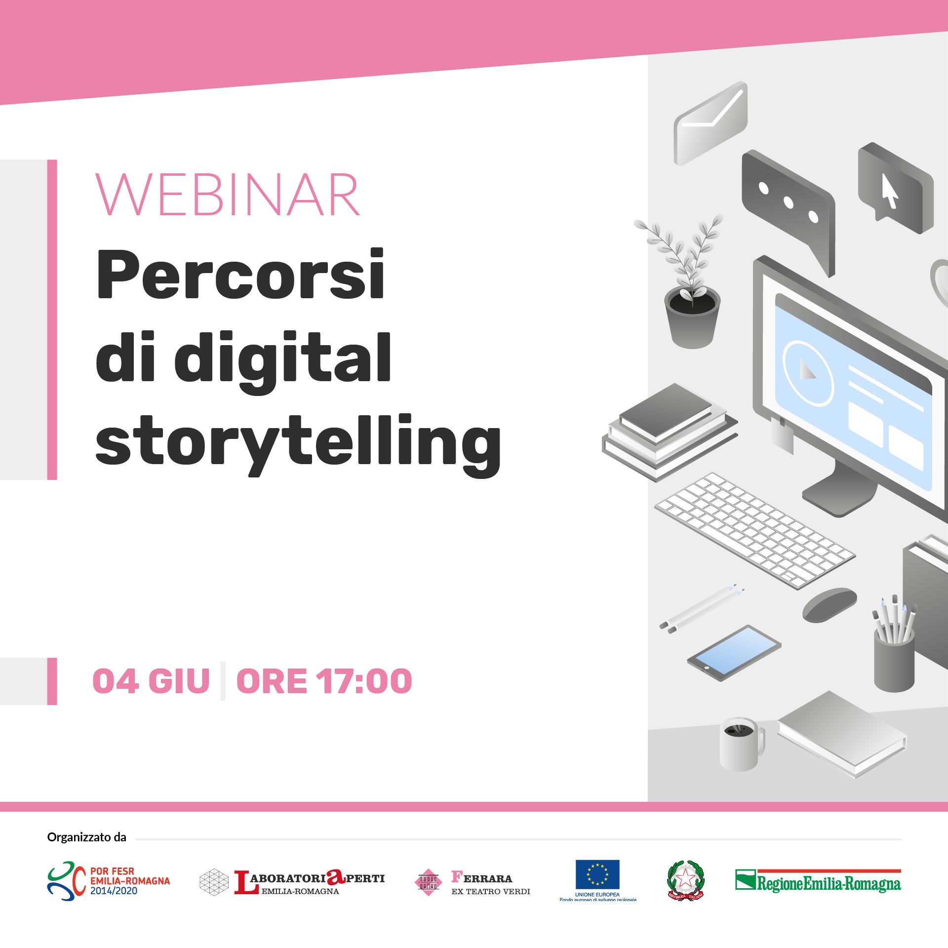 WEBINAR: Narrare e Imparare: percorsi di digital storytelling  | 4 giugno H 17:00