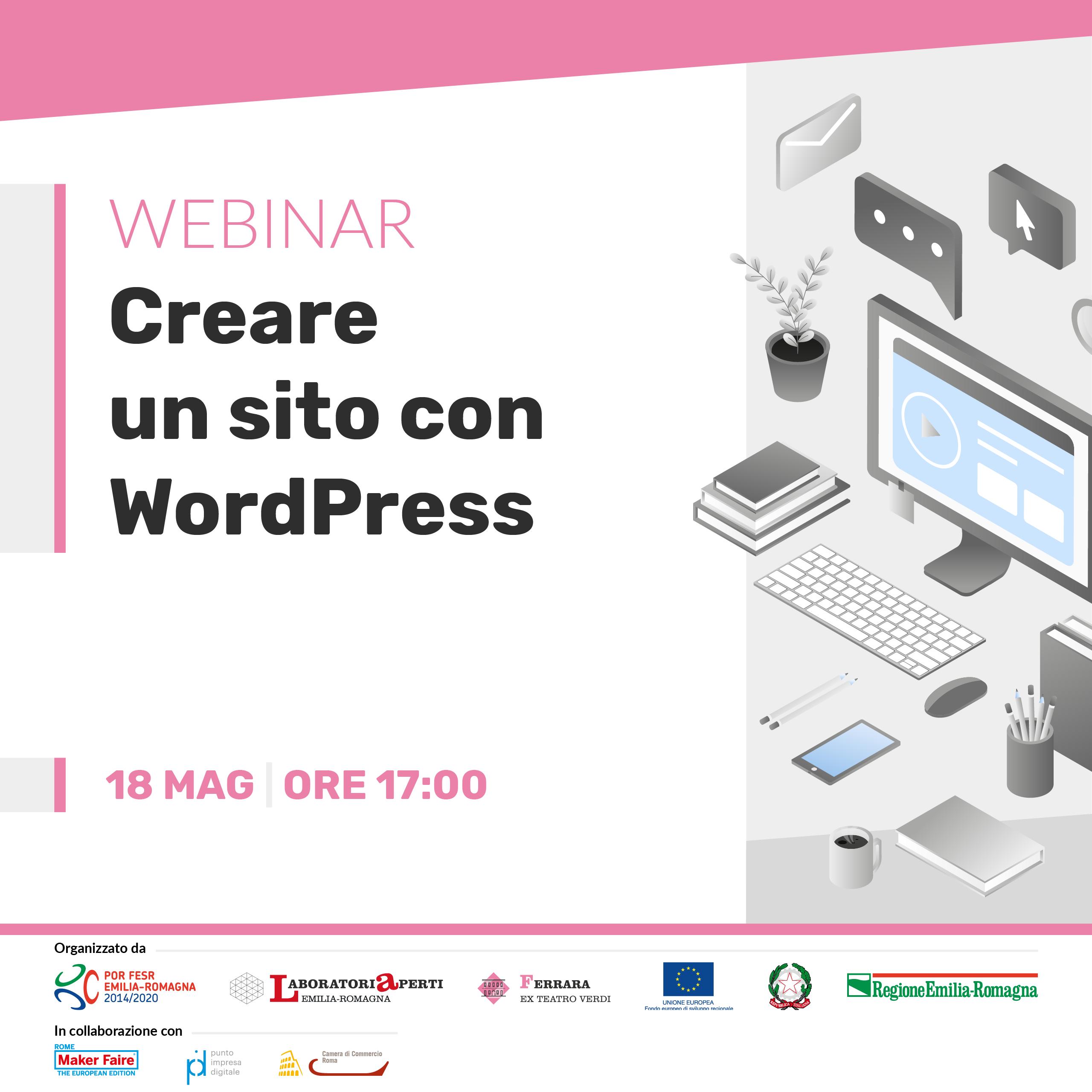 Webinar: Creare un sito con WordPress | 18 maggio h 17:00