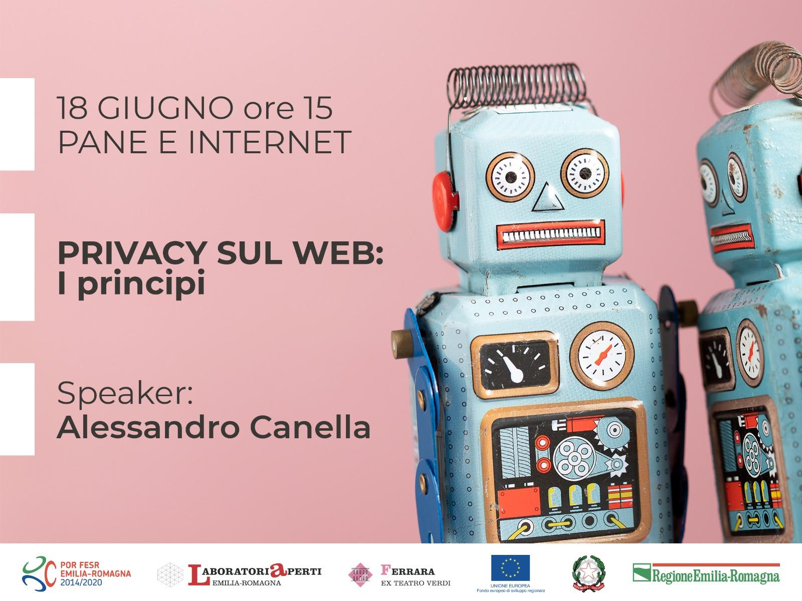 18 GIUGNO: ONLINE PRIVACY SUL WEB: I PRINCIPI