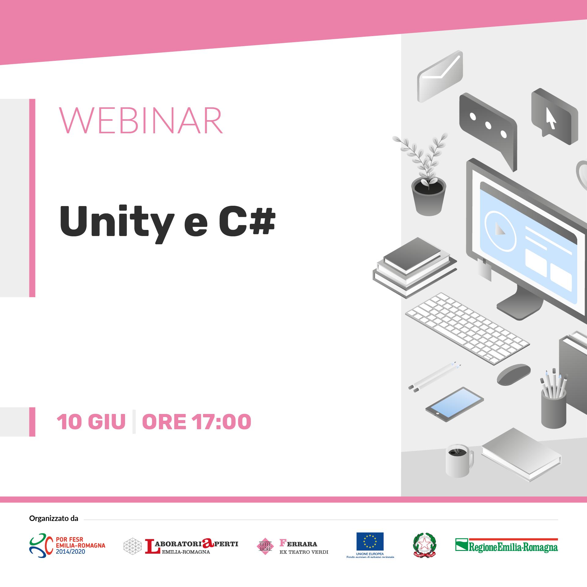WEBINAR: Unity e C#  | 10 giugno H 17:00