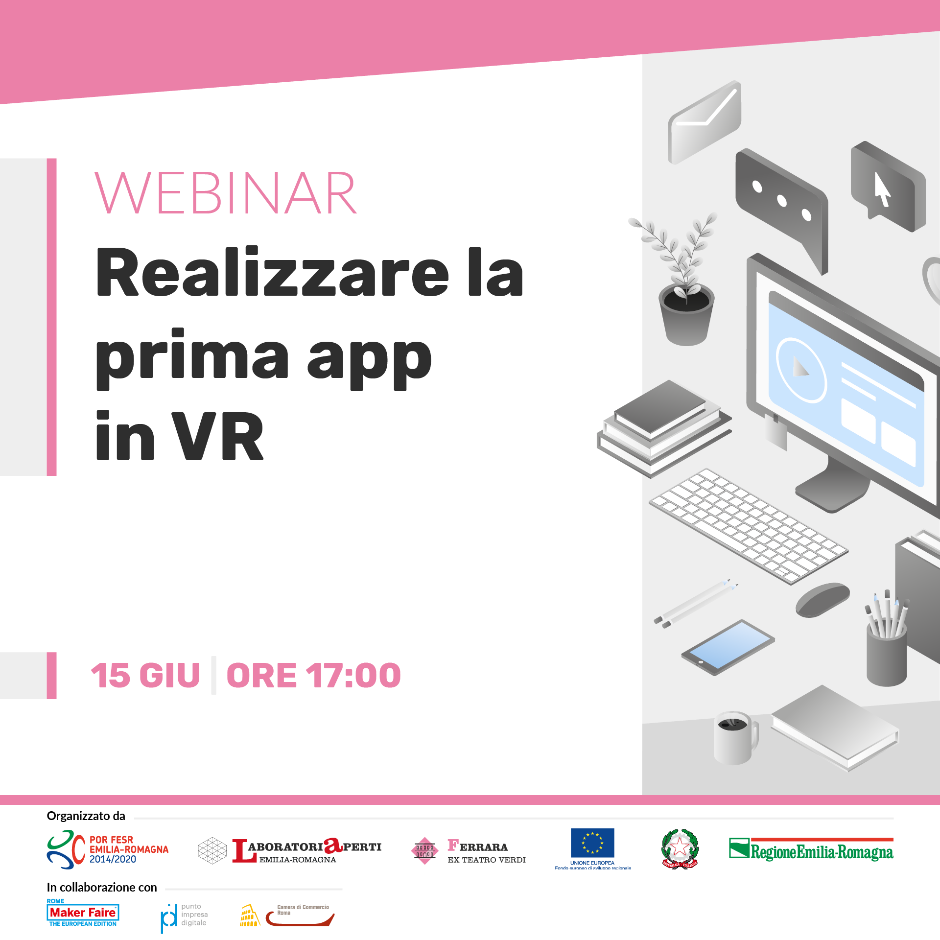 WEBINAR: realizzare la prima app in VR  | 15 giugno H 17:00