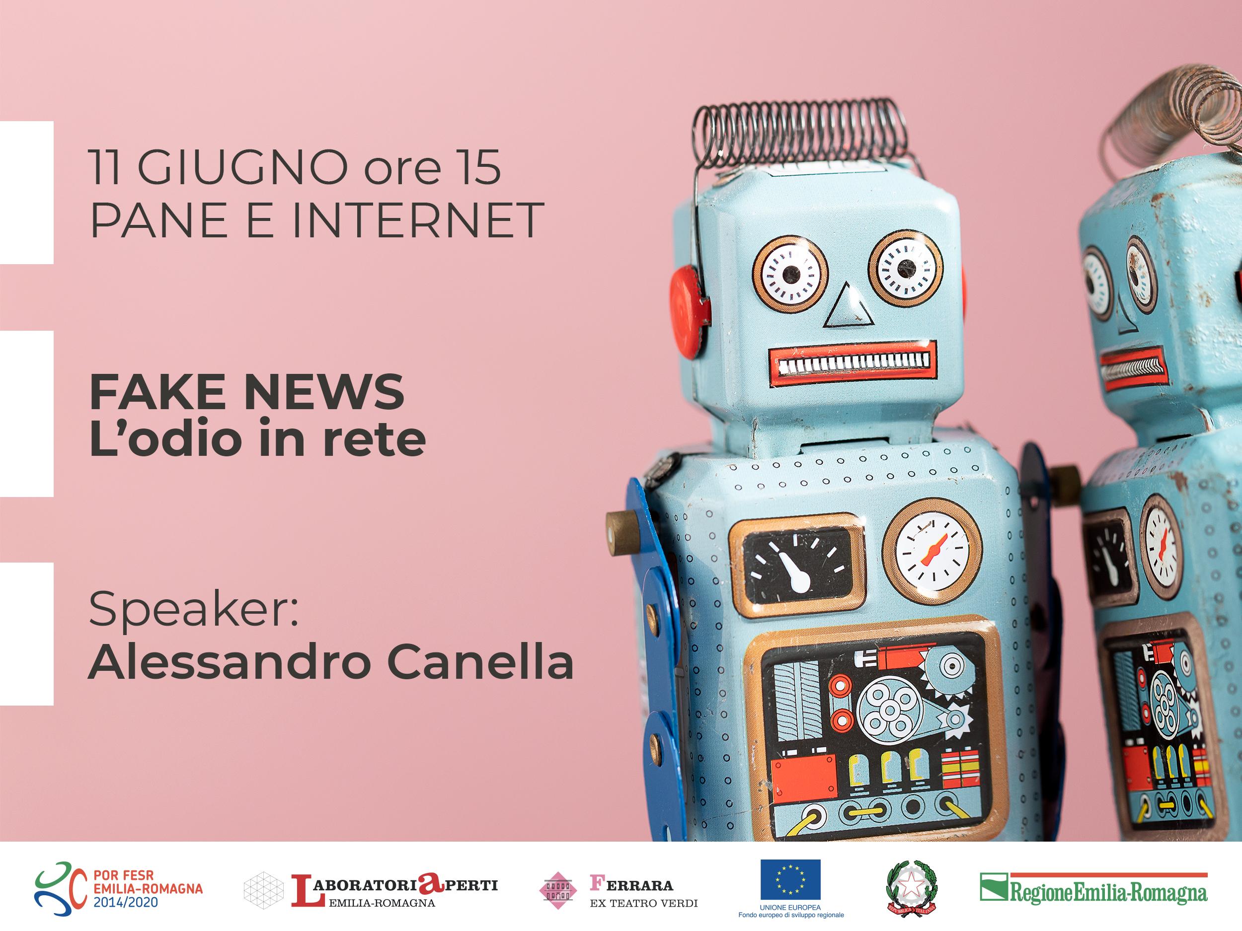 11 GIUGNO: FAKE NEWS: l'odio il rete