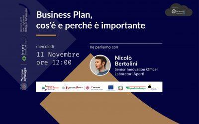 11 novembre – Webinar sul Business Plan