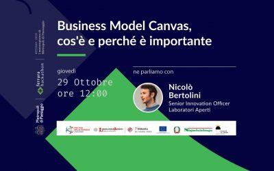 29 ottobre – Incontro sul Business Model Canvas