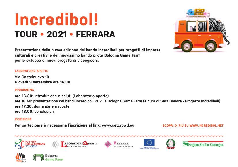 Incredibol! – Tour 2021 – Ferrara